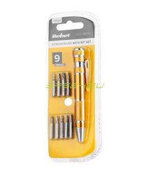 Professional precision screwdriver with bit set 9x for electronics and GSM